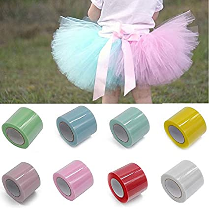 Amazon Com Cmd 25yard Crystal Tulle Roll Spool Tutu Fabric