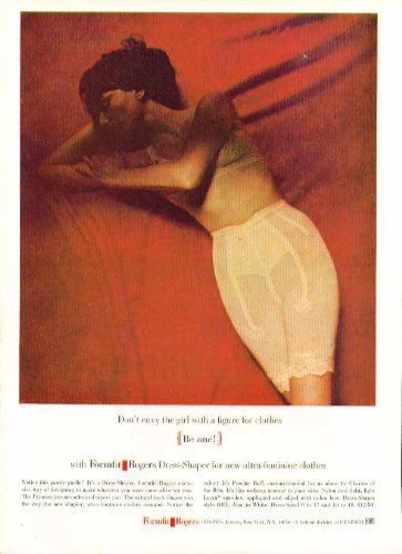 Don't envy the girl with the figure for clothes. Formfit Rogers girdle ad 1964