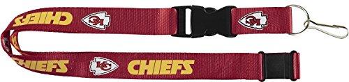 aminco NFL Kansas City Chiefs Team Lanyard, Red - Kansas City Chiefs Lanyard