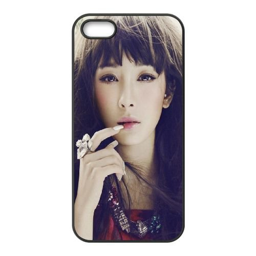 Girl Asian Make Up Face Style 92352 coque iPhone 5 5S cellulaire cas coque de téléphone cas téléphone cellulaire noir couvercle EOKXLLNCD23905