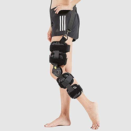 Health Adjustable Knee Support,Hinged Knee Brace Knee ROM Orthosis - Universal Leg Size