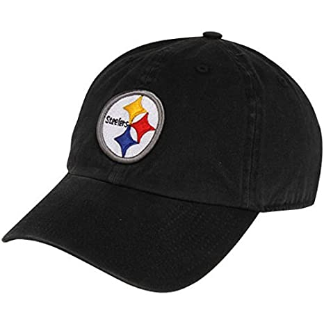227bb56d53591 Amazon.com   NFL Pittsburgh Steelers  47 Brand Black Basic Logo ...