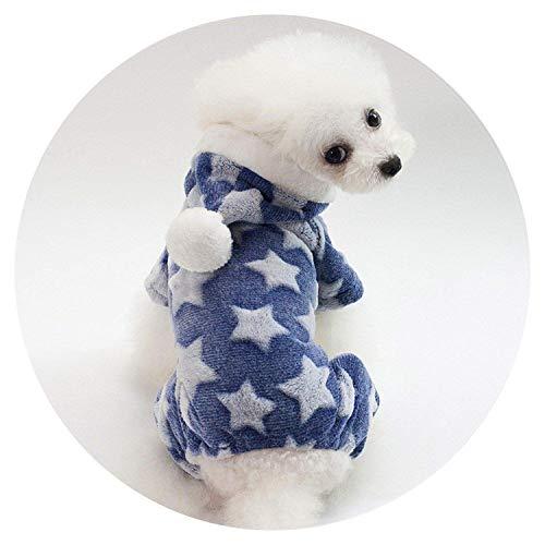 spyman Star Pattern Soft Hoodies Pet Coat Dog Jacket Clothes Chihuahua Small Pet Dog Coat,L,LightGreen