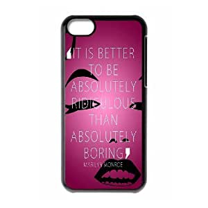 Marilyn Monroe Quotes DIY Cover Case with Hard Shell Protection for Iphone 5C Case lxa#908795 hjbrhga1544