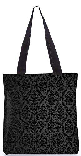 Snoogg Muster Damast-Einkaufstasche 13,5 X 15 In Einkaufstasche Dienstprogramm Trage Aus Polyester Leinwand