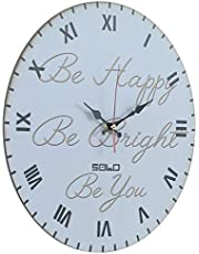 Solo B803 Wooden Round Analog Wall Clock - 40 cm
