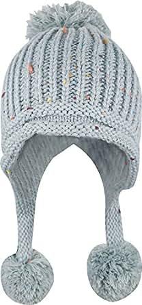 Women Winter Crochet Knit Ski Warm Beanie Pom Ball Hat,Gray