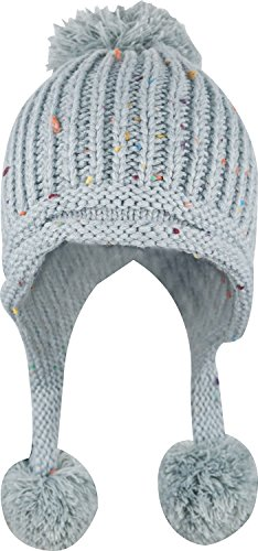 - Women Winter Crochet Knit Ski Warm Beanie Pom Ball Hat,Gray