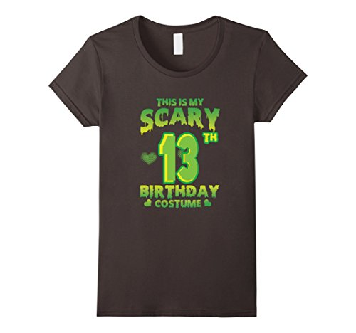 Womens Halloween Costume For 13 Years Old. 13th Birthday Shirt. Small Asphalt (Cute Costumes For 13 Year Olds)