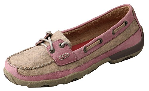 (Twisted X Women's And Driving Mocs Tan 9 M US)
