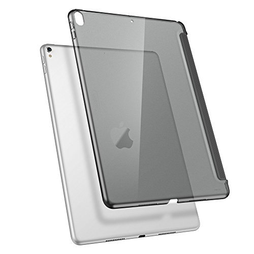ESR iPad Pro 10.5 Case, Clear Hard Case [Perfect Match with Smart Keyboard] Slim Fit Back Shell Cover for iPad Pro 10.5 Inch (Charcoal Gray) (Shell Cover Back Plastic)