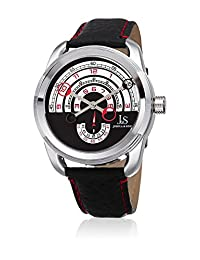 Joshua & Sons Men's Quartz Stainless Steel and Leather Casual Watch, Color:Black (Model: JX129RD)
