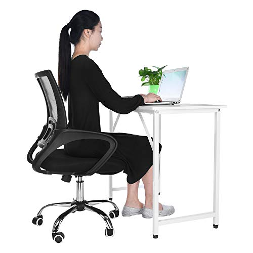 Lavany Home Office Chair for Task/Desk Work,Mesh Gaming Chair Liftable Computer Task Chair,US Tock (Black-B) - Leather Nylon Arm Chair