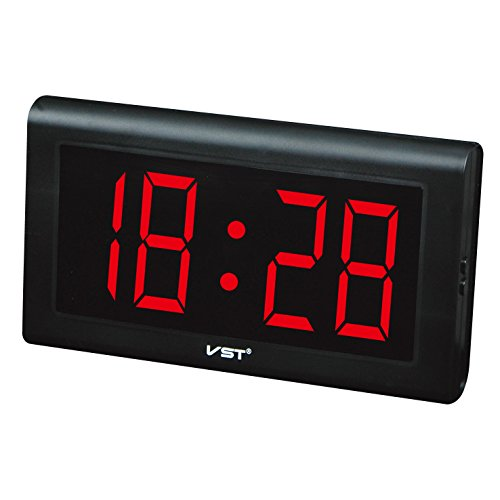 "Electronic Led Digital Desk Clocks Wall Decorative Extra Large 4"" LED Numbers Display,Only time function,Military Time"