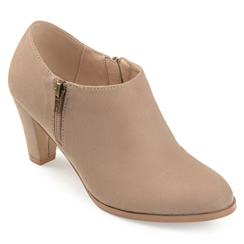 Booties Low Taupe Womens Collection Comfort Ankle Journee Cut Sole UT0Zqqwv