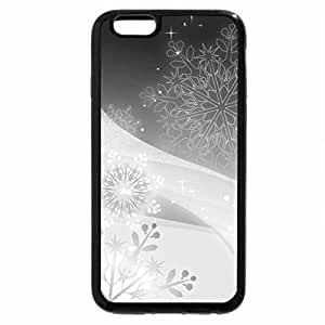 iPhone 6S Plus Case, iPhone 6 Plus Case (Black & White) - Snowflakes