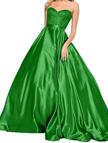 Herzausschnitt Promkleider Charmant Kleider Damen Lang Abendkleider Ballkleider Festlichkleider Grün Jugendweihe ggEUqZ0