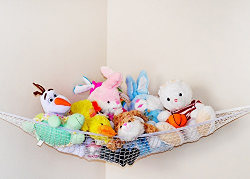 Stuffed Animal Toy Hammock - Best for keeping rooms clean, organized and clutter-free - Comes with BONUS FREE E-Book, Toy Organizer Storage Net is Durable and Easy to Install by Enovoe (Image #2)
