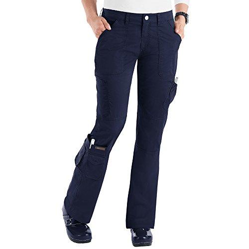 koi-womens-tall-stretch-jada-button-front-mid-rise-waist-scrub-pants-navy-medium-tall