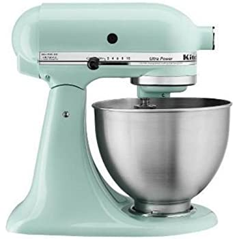 KitchenAid KSM95IC Ultra Power Series 4.5 Quart Tilt Head Stand Mixer, Ice  Blue
