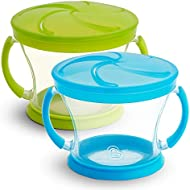 Munchkin Snack Catcher, 2 Pack, Blue/Green