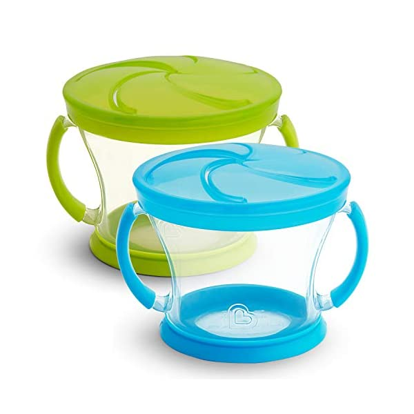 Munchkin Snack Catcher, 2 Pack, Blue/Green