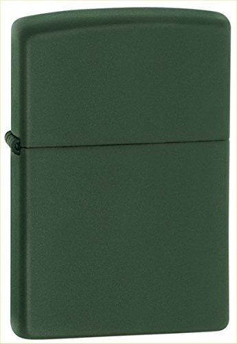 Zippo Pocket Lighter, Green Matte