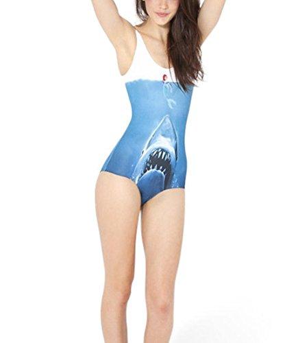 HZZ de las mujeres del traje de baño de una pieza que adelgaza con la impresión digital 3D Racerback Traje de baño Monokinis , as figure , Free as figure