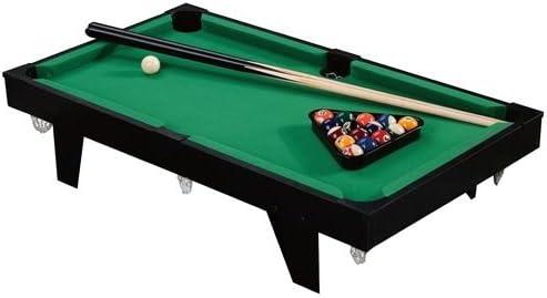Mesa de billar + accesorios, Pool Mesa de billar billar mesa de billar 92 x 52 x 19 cm: Amazon.es: Jardín