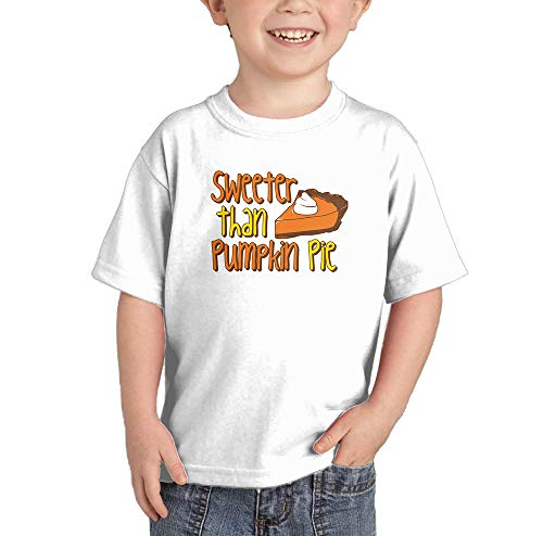 Sweeter Than Pumpkin Pie - Autumn Fall Infant/Toddler Cotton Jersey T-Shirt (White, 5T) ()