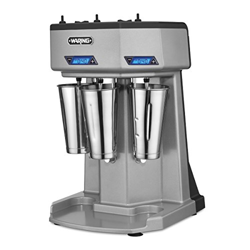 (Waring Commercial WDM360T Triple Head Drink Mixer with Timers, Silver)
