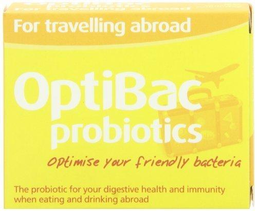 Optibac Probiotics For Travelling Abroad Pmp Uk 20 Vegetarian Capsules