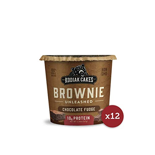 Kodiak Cakes Chocolate Fudge Brownie in a Cup, 2.36 Ounce (Pack of 12) (Packaging May Vary)