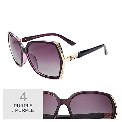 Gafas Purple Uv400 Blanco Gafas De De Sol Estilo Hd Mujer Mujer TIANLIANG04 Sol Gafas Gafas Trajes Polarizadas Mariposa TZSnF61x