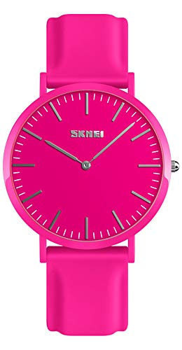 Simple Design Analog Watch with Silicone Band for Men/Women Student Watches