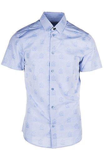 Versace Jeans Herrenhemd Kurzarmhemd Herren T-shirt easy slim blu