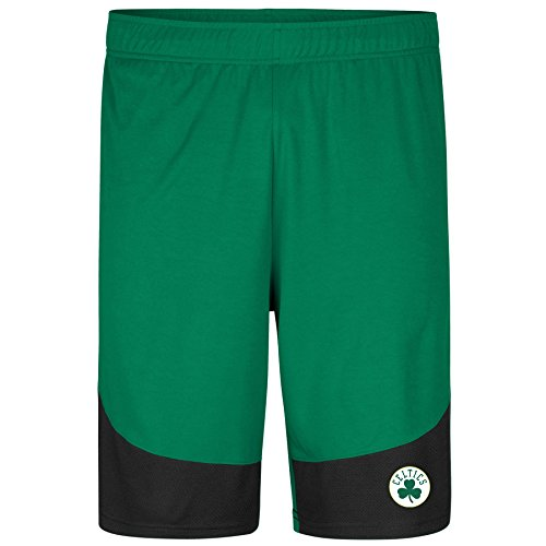 Profile Big & Tall NBA Boston Celtics Poly Logo Short, Kelly/Black, 3X