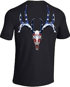 Under Armour 6391261097 Whitetail Skull T-Shirt for Men, Black & White, Large