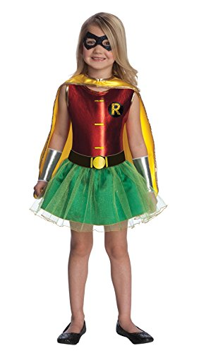 Tutu Robin Girls Costumes (DC Super Hero Robin Tutu Dress Child Costume (Medium))