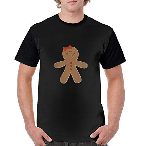 Simoner Gingerbread Woman Clipart Mens Fashion Blend 3D Print Short Sleeve T-Shirts