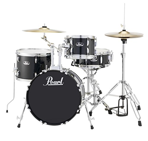 Tom Combo Stand - Pearl RS584CC31 Roadshow 4-Piece Drum Set, Jet Black