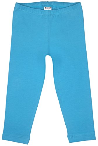 Little Girls Cropped Leggings Cotton Turquoise Medium