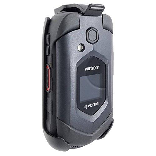 Kyocera DuraXV Plus XV + E4520 Belt Clip Holster Black (LEIF) (Verizon Flip Phone Holster)
