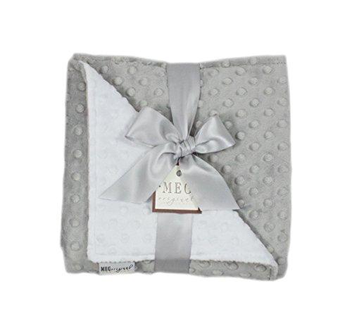(MEG Original Minky Dot Baby Blanket Gray/White )