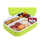 MAIRICO Premium Bento Lunch Box (Green) for Adults and Kids - Beautiful 5 Compartment, BPA free, Leak-proof, Microwave, Freezer and Dishwasher Safe