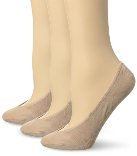 Sperry Women's 3 Pack No Show Liner Socks, Brush, shoe size 5-10(sock size 9-11)