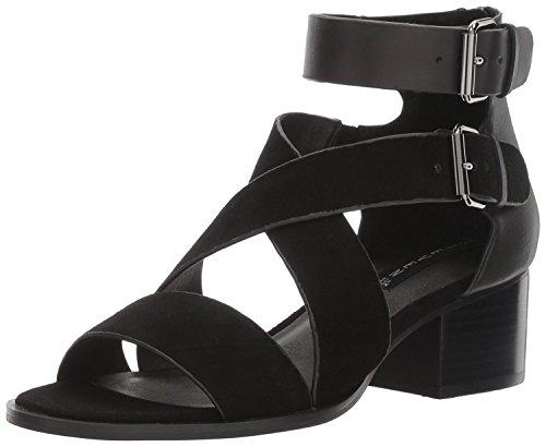 Steve Madden Steven by Womens Elinda Leather Open Toe, Black/Multi, Size 5.5 US/3.5 UK US