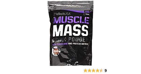 BioTech Muscle Mass Mezcla de Proteínas, Sabor Chocolate - 1000 gr
