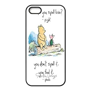 Winnie the pooh,cartoon winnie, winnie and tiger series protective case cover For Apple Iphone 5 5S Cases LHSB9290346