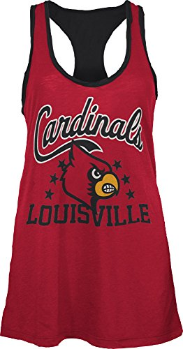 Three Square by Royce Apparel NCAA Louisville Cardinals Nelly Tank, Small, ()